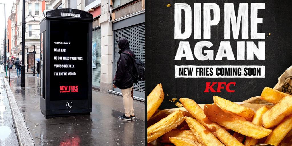 Synlig på nett: kfc reklame